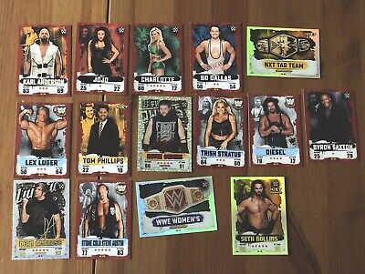 WWE topps Slam Attax NXT Takeover Cards