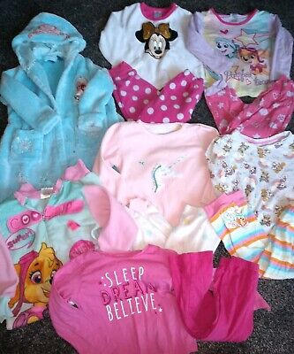 Girls bundle dressing gown,all in one &5 pyjamas  Age 2-3 Years