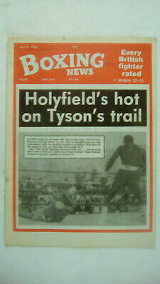 Boxing News Volume 45  Number 29 July 21st 1989 Evander Holyfield