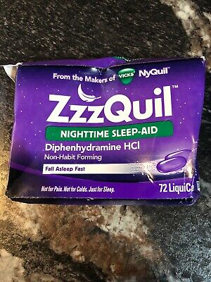 ZzzQuil Nighttime Sleep Aid, 72  LiquiCaps.  Exp 12/20. Lot:ML
