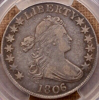 1806/5 O.101 Draped Bust half, PCGS VF30, quite pleasing    DavidKahnRareCoins