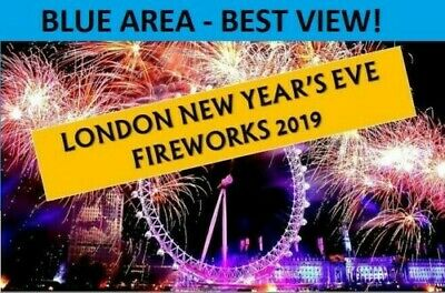 [TWO] London New Year Firework (x2) Tickets BLUE AREA December 31st 2019