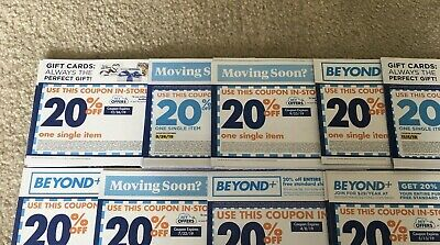 LOT of 48 Bed Bath & Beyond Coupons 20% OFF one single item Exp 12/26/19 or 2019