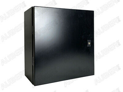 """Black Wall-mount Enclosure for 4 Controllers 16x16x8"""""""