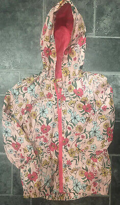 Girls Pink Flowers Rain Coat Mac Aged 4-5 By Nutmeg