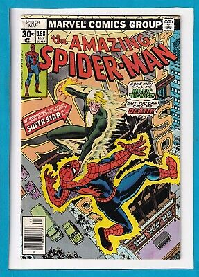 AMAZING SPIDER-MAN #168_MAY 1977_VERY FINE_1st APP WILL-O'-THE-WISP_BRONZE AGE!