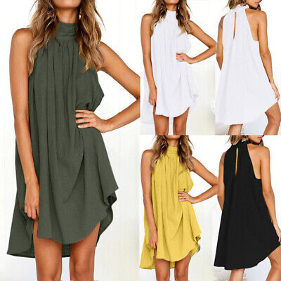 Women Dress Ladies Party Dress Casual Fashion Beach Loose Sexy Cocktail