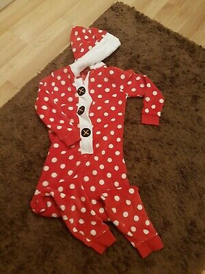 Girls Christmas Hooded Sleepsuit, PJ's, Size 11yrs, NEXT. VGC