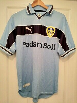 Leeds United 1999/2000 Light Blue Away Shirt Size Small Retro LUFC Leeds shirt