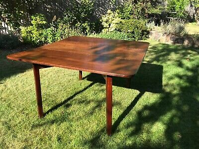 Antique Georgian Mahogany Drop Leaf Gate Leg Dining Table
