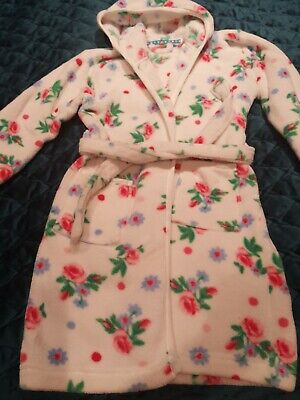Girls John Lewis floral fleece dressing gown age 8 vgc