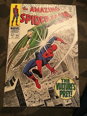 """Amazing Spider-Man #64 September 1968 """"The Vulture's Prey!"""" Silver-Age Marvel!"""
