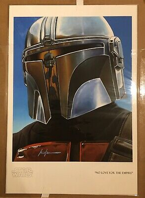 The Mandalorian picture poster painting Christian Waggoner reflection series