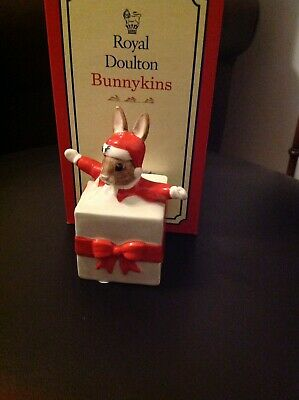 Royal Doulton Bunnykins Figurine Christmas Surprise