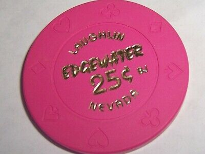 Edgewater Casino Chips 25 Cent Bj Chip Laughlin Nevada Free Shipping