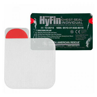 North American Rescue Hyfin Chest Seal Gauze Item # 10-0015 NSN 6510-01-532-8019