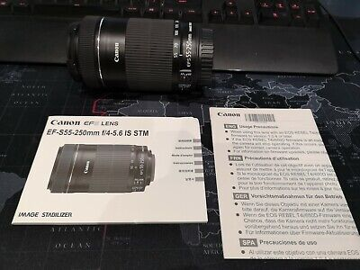 Canon Zoom Lens EF-S 55-250mm F/4-5.6 STM IS Lens Excellent used condition