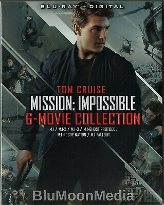 Mission: Impossible Complete 6 Movie Collection BLU-RAY + Digital Set Brand NEW