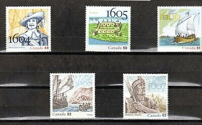 2004/08 Discovery Of Nouvelle France In 5 Stamps  Vf  In Mnh Cond.