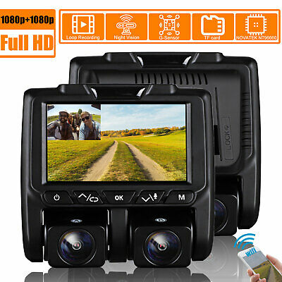 Wifi FHD Dash Cam Infrared Night Vision Dual 1080P Front and Inside Dash Camera