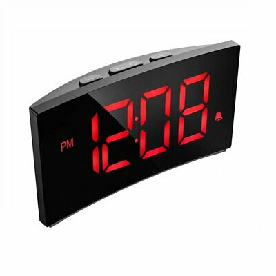 Mpow Digital 5in LED Screen Bedroom Office USB Alarm Clock Radio Snooze Function