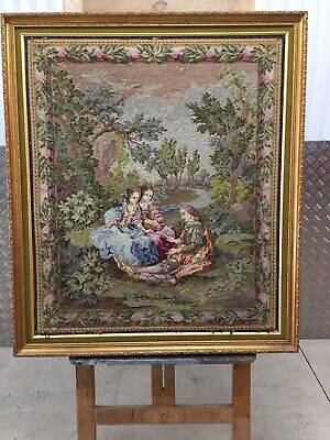 Massive Old  Framed Completed Tapestry Collectors item Requires Restoration!!!