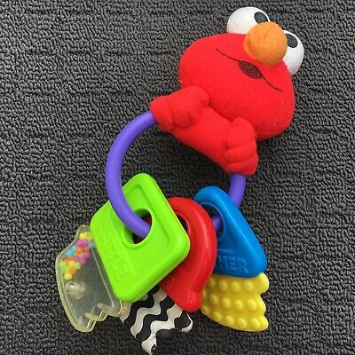 """TYCO """"Red"""" Sweet Little Elmo Shaped Cute Babies Shaking Rattling Activity Toy"""