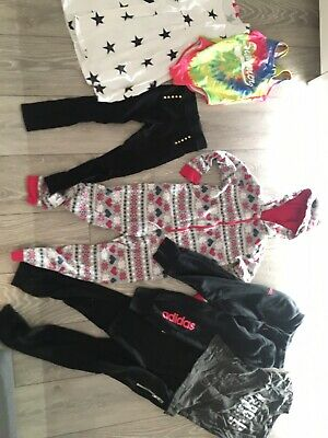Girls Bundle Age7 Adidas Joggers Swimming Costume Stars Leggings All In One Top