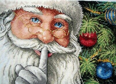 Dimensions Gold Petites Counted Cross Stitch Unframed Picture Santas Secret