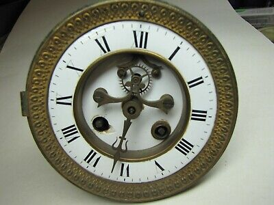 A French Striking Clock Movement with Visible Escapement
