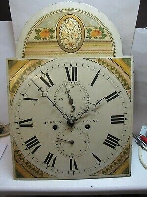 A Scottish Painted Dial Longcase Clock Movement