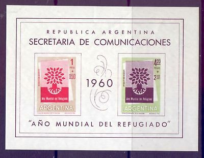 Argentina  1960  Mini sheet, Aid to Refugees, MNH.