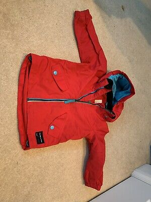 Polarn O Pyret Boys/Girls Raincoat Age 1.5 - 2 Years. Red with Blue Detail
