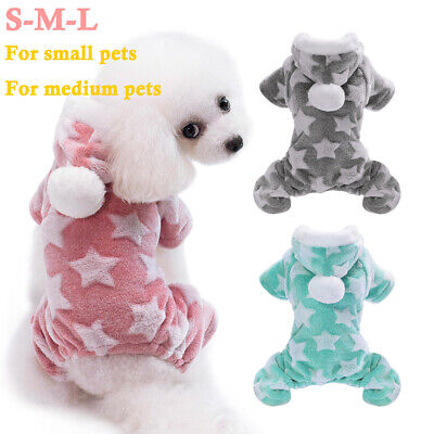 ✅Pet Dog Cat Coats Puppy Chihuahua Clothes Stars Hoodie Winter Warm Small Dogs