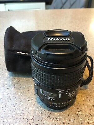 Nikon 60mm F2.8D Macro lens and filter and pouch good condition