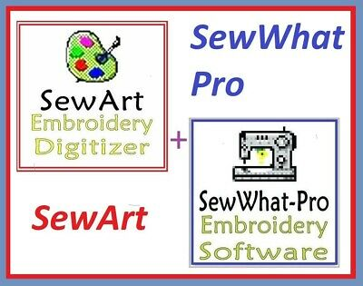 Sew Art + Sew What Pro  2019 Embroidery Software Win + Mac + GIFT ⭐Full Version⭐