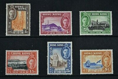 HONG KONG, KGVI, 1941 Centenary, set of 6 stamps, MM condition, Cat £90.