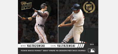 2019 Topps Now Moment Of The Year Card Red Sox Mike And Carl Yastrzemski #Moy-13