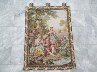 6286 - Old French / Belgium Tapestry Wall Hanging - 103 x 74 cm
