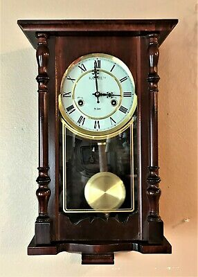 Kassel 31-day Pendulum Mechanical Wooden Wall Clock with Key