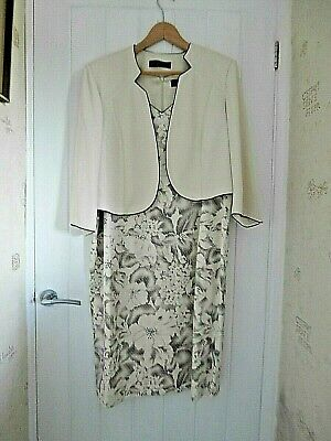 Jacques Vert Dress & Jacket Size 20 Please Read