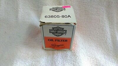 Harley Davidson Genuine Parts & Accessories Oil Filter White Box 63805-80A
