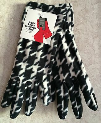 Touch Screen Compatible Gloves New One Size Fit Driving Stretch Everyday Print
