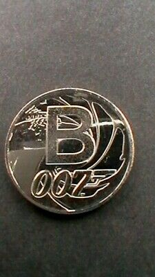 A Z 10p ALPHABET COIN TEN PENCE UNCIRCULATED LETTER B JAMES BOND 2018