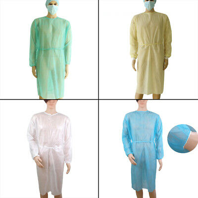 Disposable clean medical laboratory isolation cover gown surgical clothes pr D_X