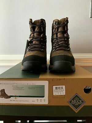 """Mens Brown Muck Summit Lace 8"""" Non-Insulated Hunting Boot Size 9"""