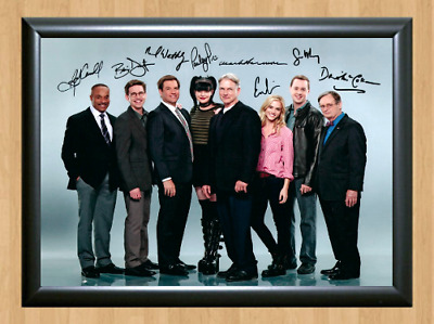 NCIS Cast Signed Autographed A4 Photo Poster Memorabilia tv show series dvd cd 2