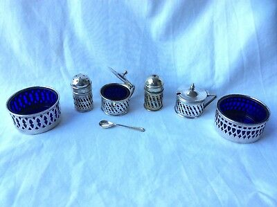 Vintage Silver Plated EPNS Condiments Set - BSC, Made in England