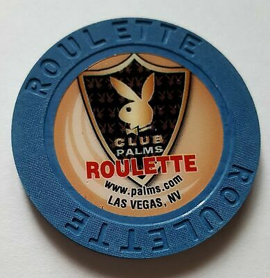 Palms Hotel Casino PLAYBOY Club Roulette Casino Chip - BLUE New / Mint