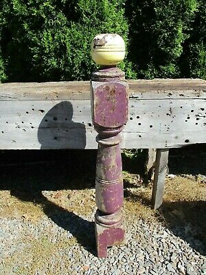 Old Newel Post, Distressed & ChuNkY ~ Turned Wood Architectural Post